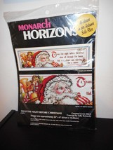 Twas the Night Before Christmas - Monarch Horizons - Counted Cross Stitc... - $15.00
