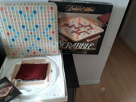 Vintage 1989 Scrabble Deluxe Edition Turntable Base 100% Complete Word Game - $44.50