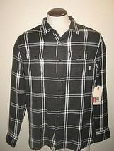 Vans Mens Wayland button front flannel shirt Black White Plaid NWT Ships... - $31.44