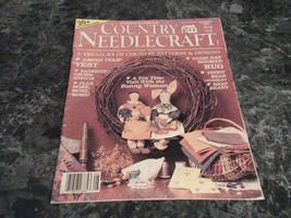 Country Needlecraft Magazine August 1987 Amish Tulip Vest - $2.69