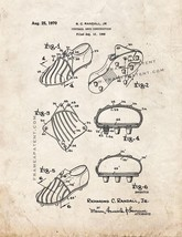Football Shoe Construction Patent Print - Old Look - $7.95+