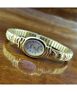 New Womens Sarah Coventry Diamond Accent Gold Embossed Heart Stretch Ban... - $29.95