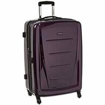 "Samsonite Winfield Luggage 28"" Polycarbonate SPIN WHEEL Lightweight Purple  TSA - $146.47"