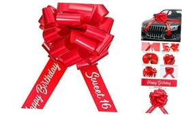 Happy Birthday Car Bow Sweet 16 Car Pull Bow Car Gift Wrapping 2 Piece S... - $24.34