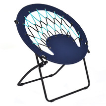 Outdoor Camping Folding Round Bungee Chair-Blue - £57.81 GBP