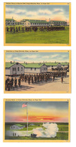 Camp Edwards Cape Cod MA Military Base 3 Postcards Inspection Bayonet Drill - $9.99