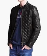 New Men's Black Real Leather Jacket Biker Racer All Size XS S M L XL XXL... - $125.88+