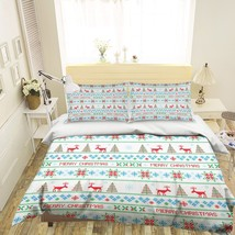 3D Christmas  Xmas 0 Bed Pillowcases Quilt Duvet Cover Set Single Queen King AU - $64.32+