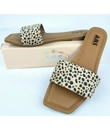 Cheetah Single Strap Slide On Flat Sandal Shoes Women Animal Print Squar... - $16.99