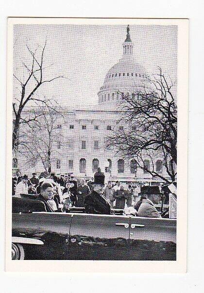 JOHN F. KENNEDY VINTAGE TRADING CARD 1964 ROSAN PRINTING #27 INAUGURAL PARADE