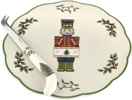Spode Christmas Tree Nutcracker Cheese Plate with Knife - $53.00