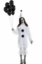 Charades Heartbroken Clown Gothic Ghostly Adult Womens Halloween Costume... - $51.91