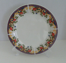 American Atelier Rooster pattern # 5229 Dinner Plate Yellow Scrolls Red ... - $9.85