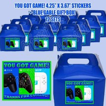 Video Game Videogame On Party Favor Boxes Thank you Decals Stickers Loot... - $24.70