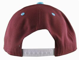 Flat Fitty On And Popin Burgundy Carolina Blue SnapBack Baseball Cap Hat NWT image 5