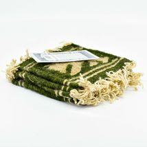 Handmade Zapotec Indian Weaving Hand-Woven Bear Green Wool Coaster Set of 4 image 3