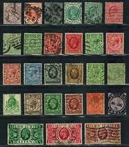 GREAT BRITAIN Used early lot of 27 stamps Postage (1881-1935) - $18.00
