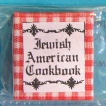 Jewish American Cook Book Readable Book JH5 By Barb DOLLHOUSE Miniature - $15.93
