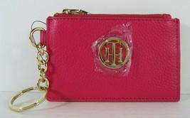 Tommy Hilfiger Nwt Lucky Charm Étiquette Rose Rose Cuir Id Porte-Monnaie Clé Fob image 2