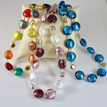 ANTICA MURRINA VENEZIA NECKLACE IN DIFFERENT COLORS WITH MURANO GLASS, DISCS