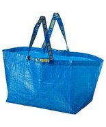 IKEA 10 Large Shopping Bags Laundry Tote Grocery Storage Reusable Strong... - $24.75