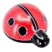 Hand Carved Kisii Soapstone Good Luck Miniature Ladybug Figurine Made in Kenya