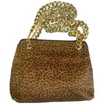 Vintage Bottega Veneta genuine leather shoulder bag with allover faux leopard pr - $338.00
