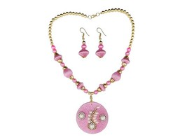 Indian Designer Jewelry Bollywood Style Austrian Stone Gold Plated Pink ... - $14.00
