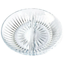 "2-Part Crystal Relish Dish 8"" Highlights Princess House Germany *SPECIAL... - $3.99"