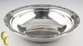 Reed & Barton Large Sterling Silver Bowl w/ Floral Rim X745 Minor Scratches - $247.50