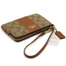 NEW! Authentic! COACH Crossgrain Leather Corner Zip Wristlet Wallet - $79.08