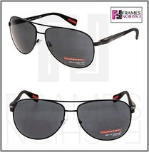 PRADA LINEA ROSSA NETEX PS51OS Black Aviator Sport Sunglasses SPS 51O Men - $236.61