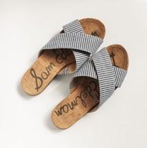 SAM EDELMAN HATTIE CRISSCROSS SLIDES 8 Cork Flats Sandals Anthropologie ... - $49.49