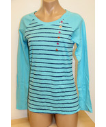 NWT Jenni by Jennifer Moore Sleepwear PJ Shirt Top Turquoise - $12.99