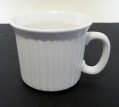 Corning Ware French White Stoneware Large Coffee / Soup Mug Holds 20 oz. - $9.89