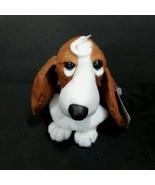 Hush Puppies Plush Brown Dog Basset Hound Stuffed Animal White Applause ... - $16.82