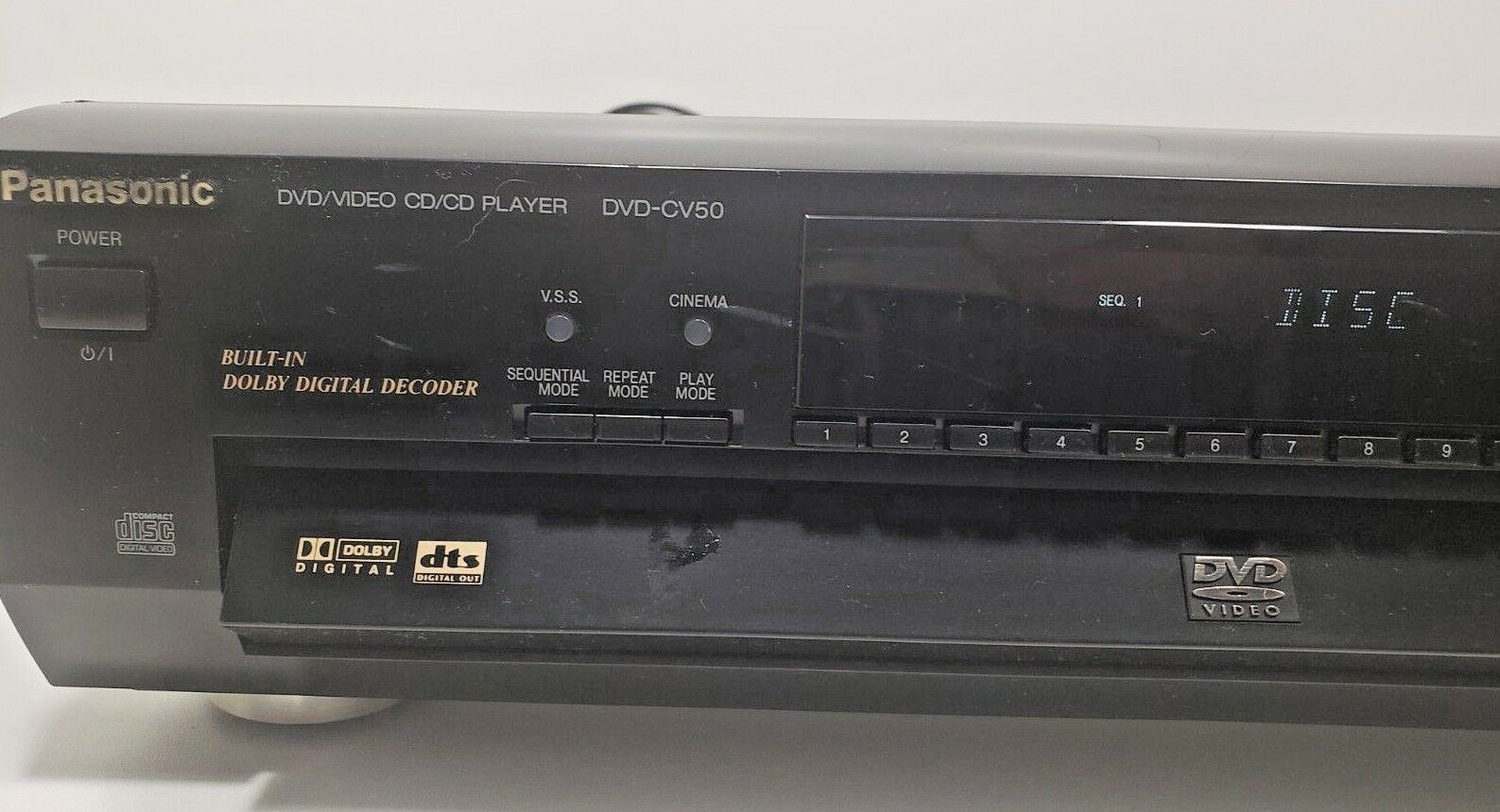 Panasonic DVD-CV50 DVD Video  CD/CD Player 5 Disc Changer..Tested W/Remote image 2