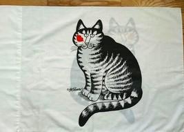 Kliban Cat Pillowcase Standard Vintage Kiss On Cheek - $19.75