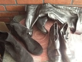 3 Pairs of Women's Low Heel Boots/Booties Size 6 - $12.85