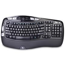 Logitech K350 2.4GHz 102-Key Wireless Multimedia Wave Keyboardw/USB Unif... - ₹3,226.37 INR