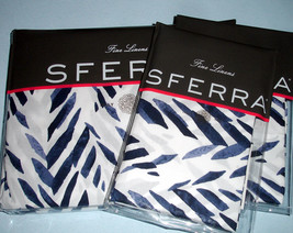 Sferra Madsen 4 Piece Set F/Queen Duvet + Shams Blue & White Egyptian Cotton New - $398.90