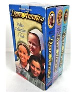 Dear America VHS Video Collection 3 Pack Scholastic Mem Clotee Zippy Dia... - $20.32