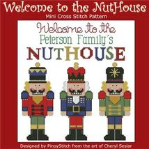 Welcome To The Nuthouse christmas customizable cross stitch chart Pinoy Stitch - $7.20