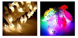 Ghost Lights Halloween Party Accessories 3 4M 20 Led String Props Decora... - $16.99