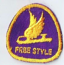Vintage Sports Patch Canada Figure Skating Free Style Level Merit Badge - $2.84