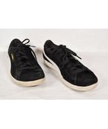 Puma Womens Vikky Suede Sneaker Shoes Black White Low 6.5 US 37 UK - $24.75