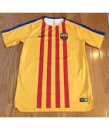 NIKE KIDS BARCELONA 17/18 TRAINING JERSEY FCB Beko Barca yellow stripe y... - $24.72