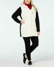 Calvin Klein Performance Coat Black White puffer Women Sz 1X Plus NEW NWT - $59.99