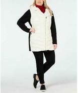 Calvin Klein Performance Coat Black White puffer Women Sz 1X Plus NEW NWT - $59.99