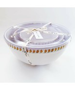 NWT HTF Rae Dunn Magenta Pumpkin Icon Ceramic Mixing Bowls Thanksgiving ... - $64.99